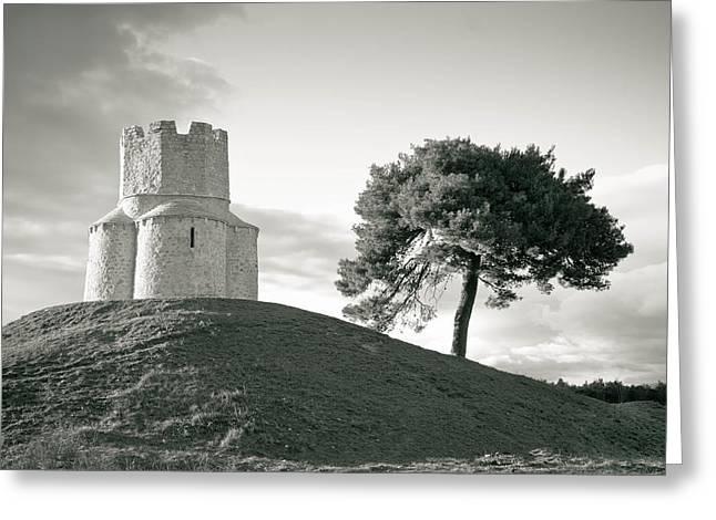 Dalmatian stone church on the hill Greeting Card by Dalibor Brlek