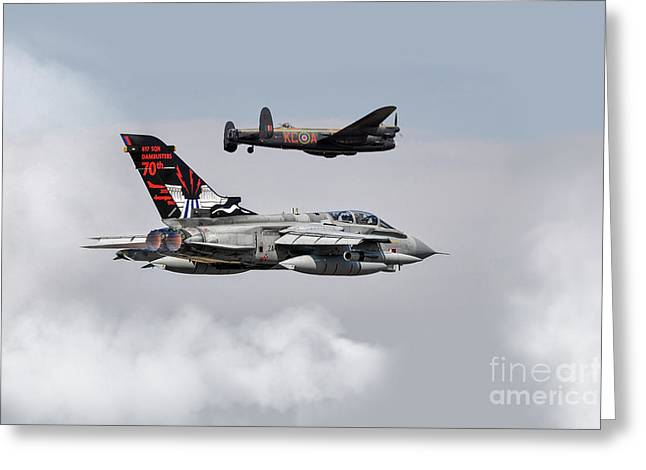 617 Squadron Greeting Cards - Dam Buster History  Greeting Card by J Biggadike
