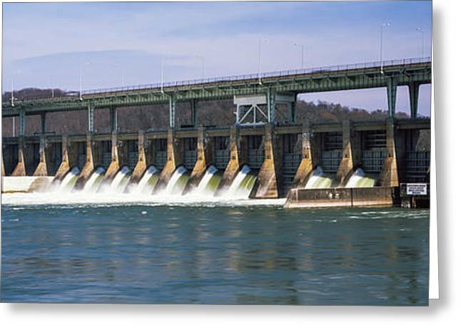 Dam On A River, Chickamauga Dam Greeting Card by Panoramic Images