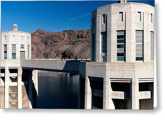 Hoover Greeting Cards - Dam On A River, Hoover Dam, Colorado Greeting Card by Panoramic Images