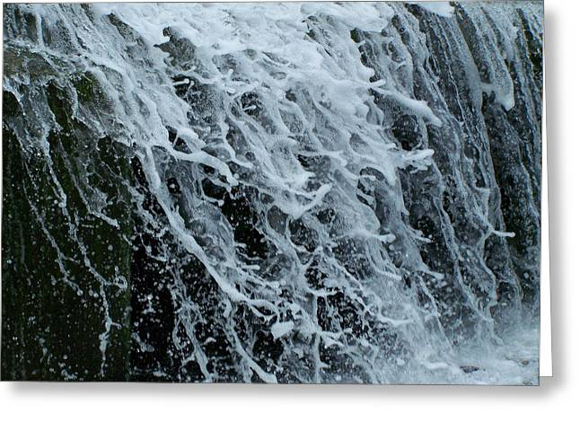 Waterfall Image Greeting Cards - Dam Waterfall 4 Greeting Card by Chris Flees