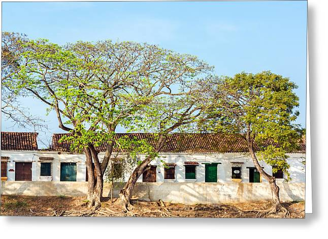 Damaged Colonial Buildings Greeting Card by Jess Kraft
