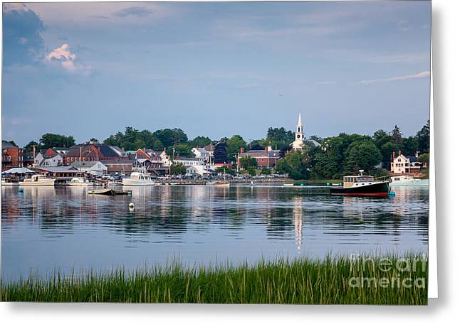 Recently Sold -  - Coastal Maine Greeting Cards - Damariscotta Summer Greeting Card by Susan Cole Kelly