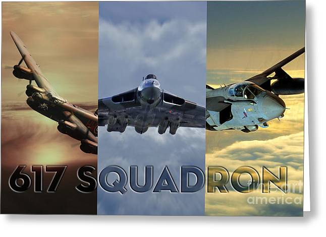 617 Squadron Greeting Cards - Dambusters Legend Greeting Card by J Biggadike
