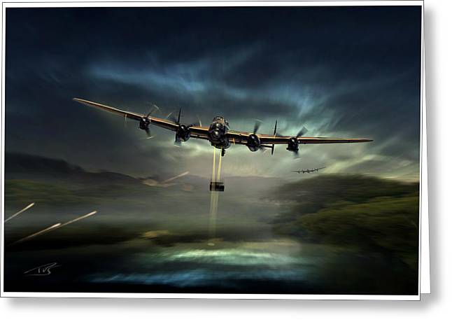 Wwi Greeting Cards - Dambusters Greeting Card by Peter Van Stigt