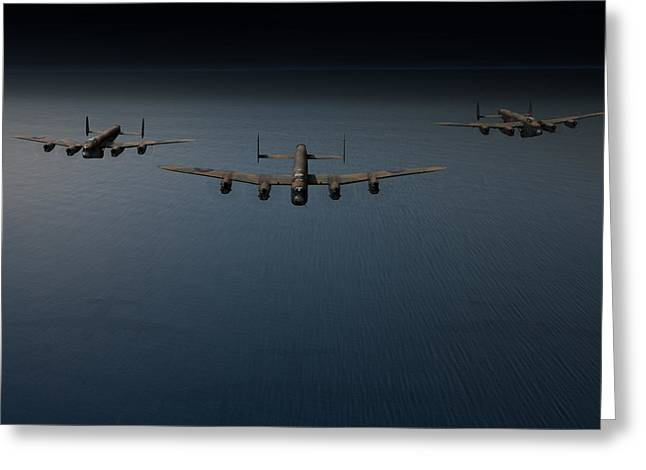 Ldr Greeting Cards - Dambusters second flight Greeting Card by Gary Eason