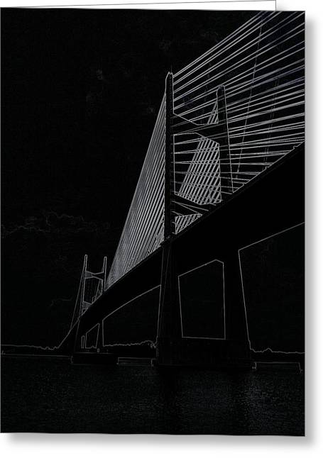 Jacksonville Greeting Cards - Dames Point Bridge 2 Greeting Card by Tiffney Heaning