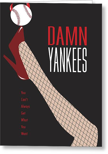 Broadway Musical Greeting Cards - Damn Yankees 3 Greeting Card by Ron Regalado