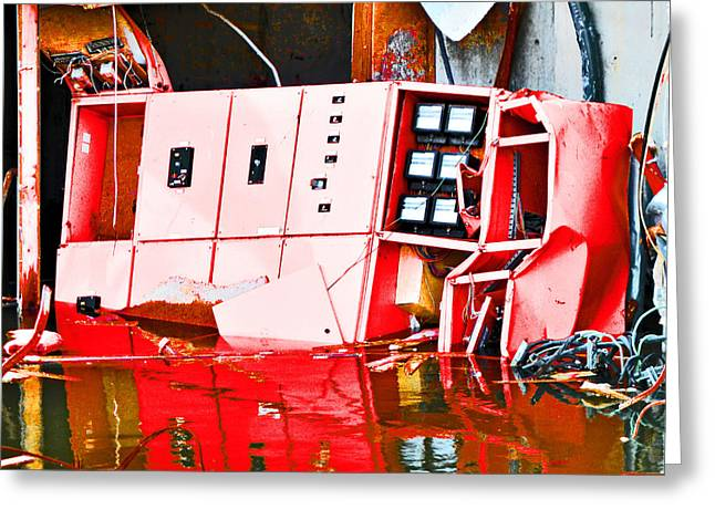 Flooding Digital Art Greeting Cards - Damp in the Electrics Greeting Card by Steve Taylor