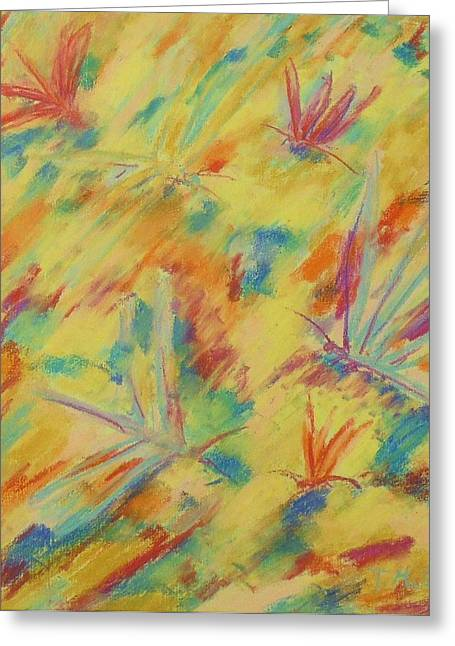 Dragonflies Pastels Greeting Cards - Damsel Flies Greeting Card by Tricia Mcdonald