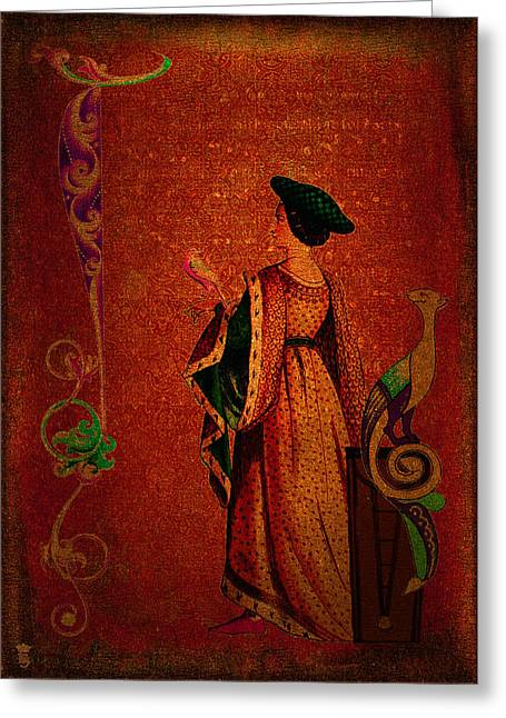Li Van Saathoff Greeting Cards - Damsel in disport Greeting Card by Li   van Saathoff