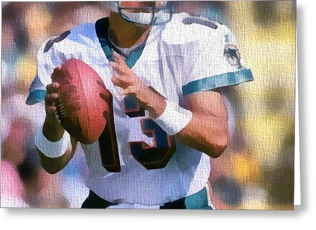Dan Marino Canvas Greeting Card by Dan Sproul