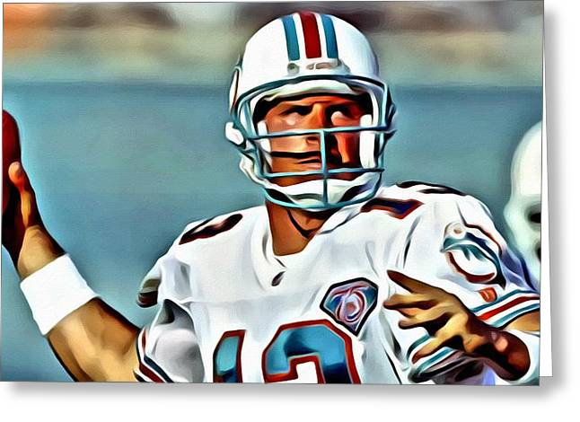 Marino Greeting Cards - Dan Marino Greeting Card by Florian Rodarte
