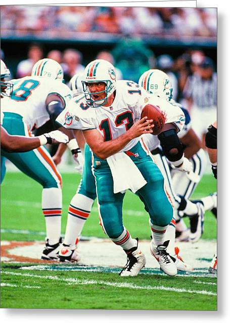 Dan Marino Photographs Greeting Cards - Dan Marino Greeting Card by Jerry Coli