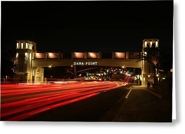 Beach At Night Greeting Cards - Dana Point At Night Greeting Card by Richard Cheski