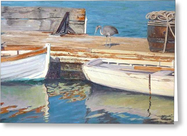 Boats In Harbor Greeting Cards - Dana Point Harbor Boats Greeting Card by Sharon Weaver