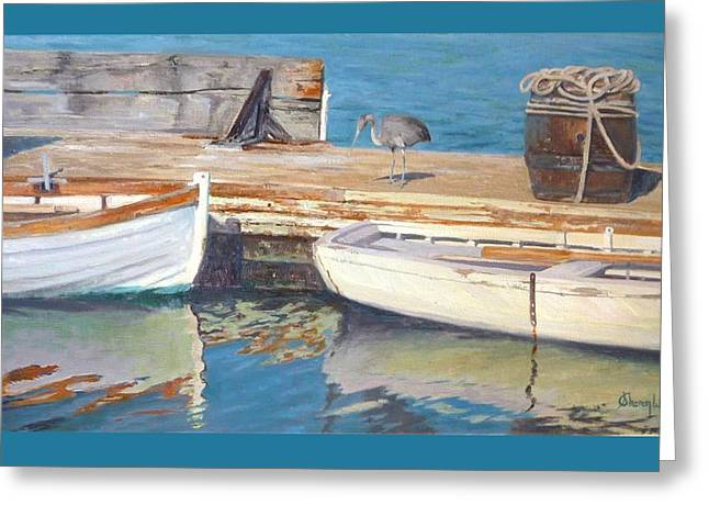 Boats At Dock Greeting Cards - Dana Point Harbor Boats Greeting Card by Sharon Weaver