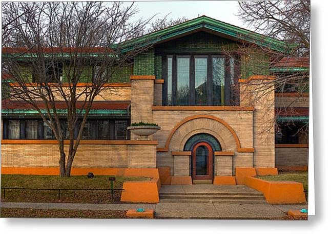 Frank Lloyd Wright Greeting Cards - Dana Thomas House Springfield I L Greeting Card by Steve Gadomski