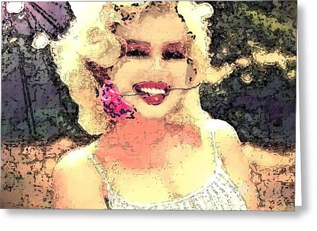 Dana's Marilyn II Greeting Card by Cadence Spalding