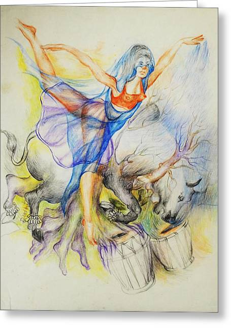 Austria Greeting Cards - Dance-11 Greeting Card by Bhanu Dudhat