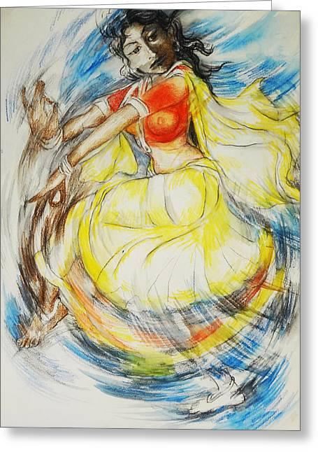 Austria Greeting Cards - Dance-5 Greeting Card by Bhanu Dudhat