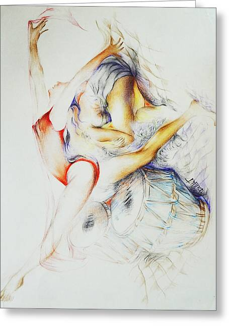 Frame Greeting Cards - Dance-9 Greeting Card by Bhanu Dudhat