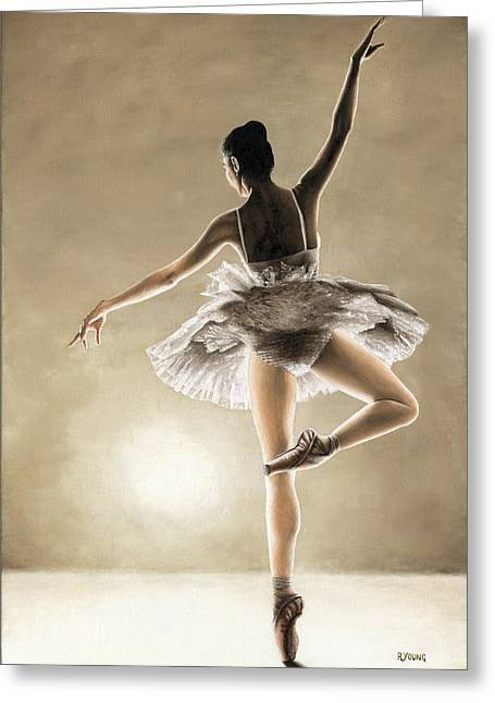 Modern Dance Greeting Cards - Dance Away Greeting Card by Richard Young