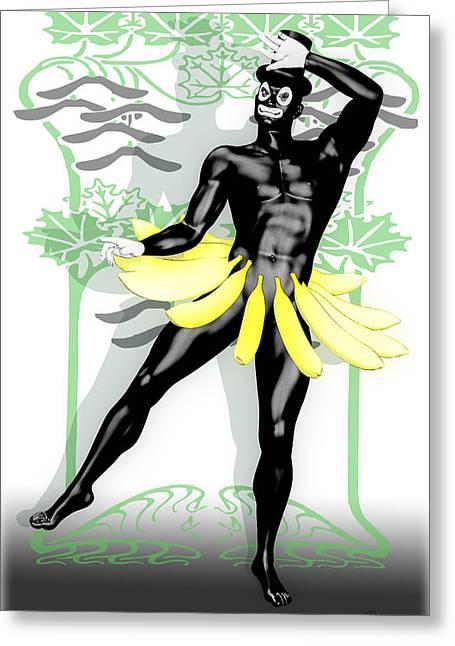 Killer Clown Greeting Cards - Banana Boy by Quim Abella Greeting Card by Joaquin Abella