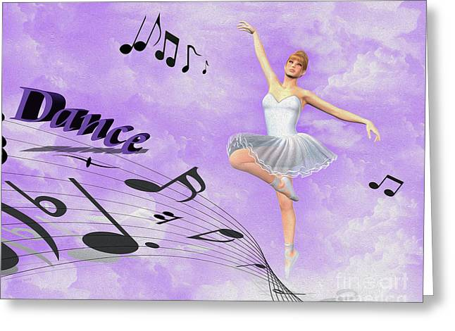 Plies Greeting Cards - Dance Greeting Card by Cheryl Young