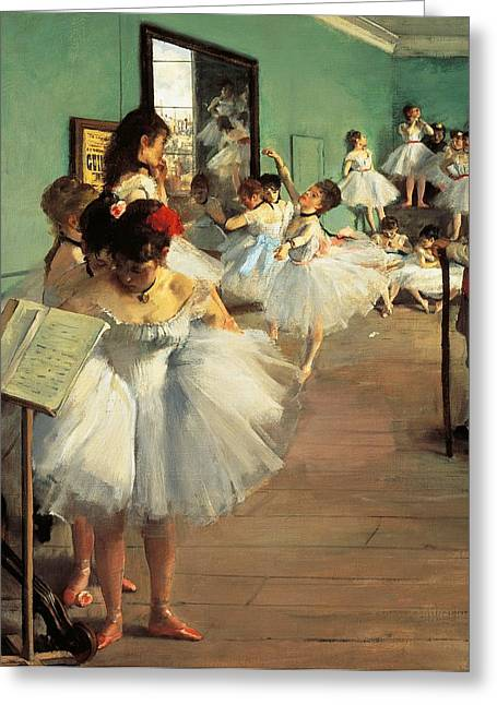 Contemporary Age Greeting Cards - Dance Examination Greeting Card by Edgar Degas