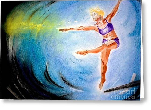 Actions Pastels Greeting Cards - Dance Fantasy Greeting Card by Alex Thomas