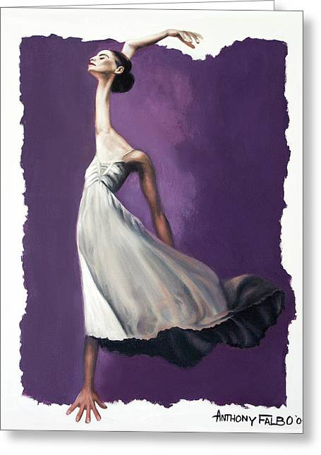 Dancer Art Greeting Cards - Dance For Him Greeting Card by Anthony Falbo