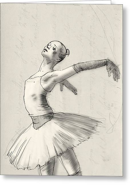 Dance Greeting Card by H James Hoff