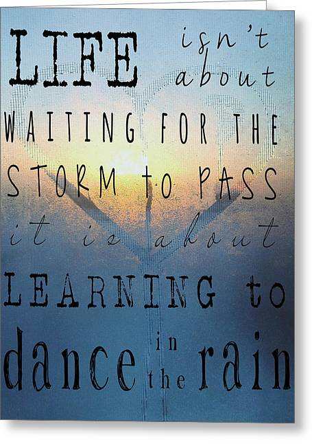 Jerry Cordeiro Greeting Cards - Dance In The Rain  Greeting Card by Jerry Cordeiro