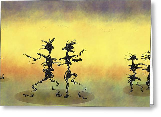 Swiss Mixed Media Greeting Cards - Dance II Greeting Card by Manuel Sueess