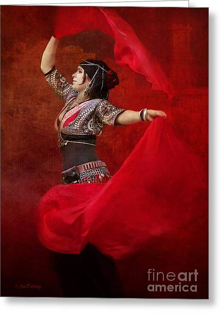 Gumeracha Greeting Cards - Dance in red Greeting Card by Jan Pudney