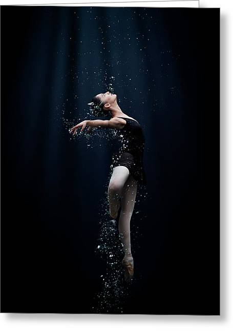 Dance In The Water Greeting Card by Semra Halipoglu