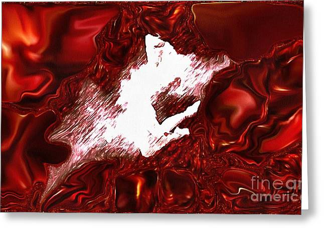 Catherine White Greeting Cards - Dance In Velvetty Red Greeting Card by Catherine Lott