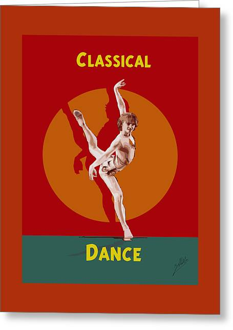 Dance Greeting Card by Quim Abella