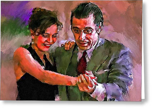 Leonard Cohen Greeting Cards - Dance me to the end of Love 2 Greeting Card by Yury Malkov