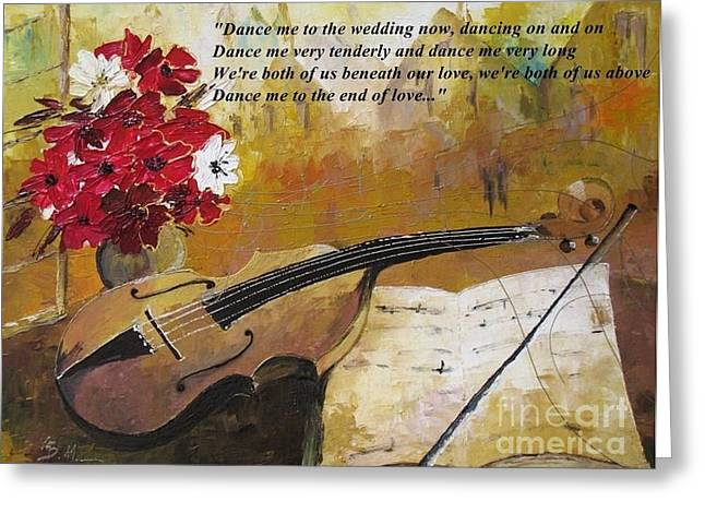 Dance Me To The End Of Love_dedicated To Leonard Cohen Greeting Card by AmaS Art