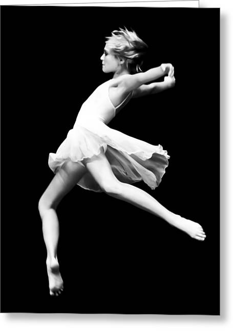 Recently Sold -  - Floating Girl Greeting Cards - Dance Greeting Card by Nicholas Evans