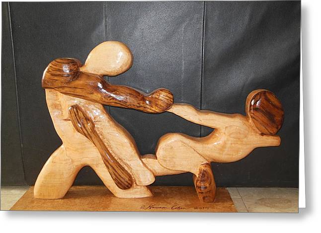 Hands Sculptures Greeting Cards - Dance of Escape Greeting Card by Esther Newman-Cohen