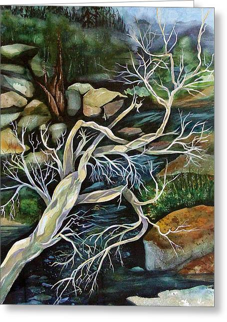 Dance Of Life Greeting Cards - Dance of Life Driftwood Greeting Card by Dorothea  Morgan