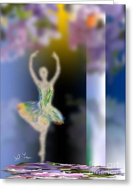 Ballet Of Colors Greeting Cards - Dance Of Spring Greeting Card by Leo Symon