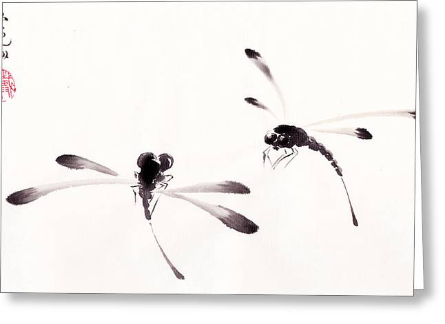 Dance Of Joy Greeting Cards - Dance of the Dragonflies Greeting Card by Oiyee  At Oystudio