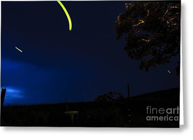Photography Lightning Greeting Cards - Dance of the Firefly Greeting Card by Thomas R Fletcher