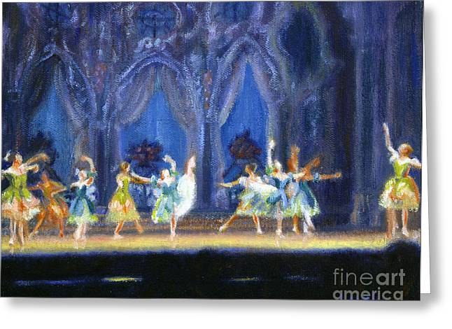 Dancing Girl Greeting Cards - Dance of the Flowers Greeting Card by Candace Lovely