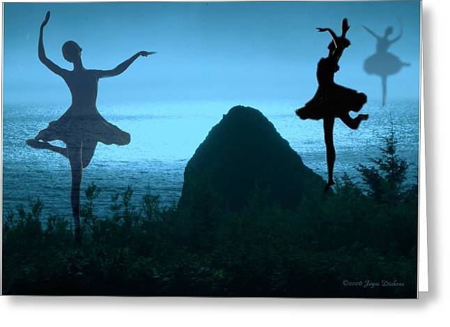 Prima Ballerina Digital Art Greeting Cards - Dance Of The Sea Greeting Card by Joyce Dickens