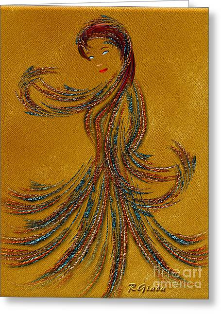 Dance Of The Veils Greeting Cards - Dance of the Seven Veils - Salome - fantasy art by Giada Rossi Greeting Card by Giada Rossi